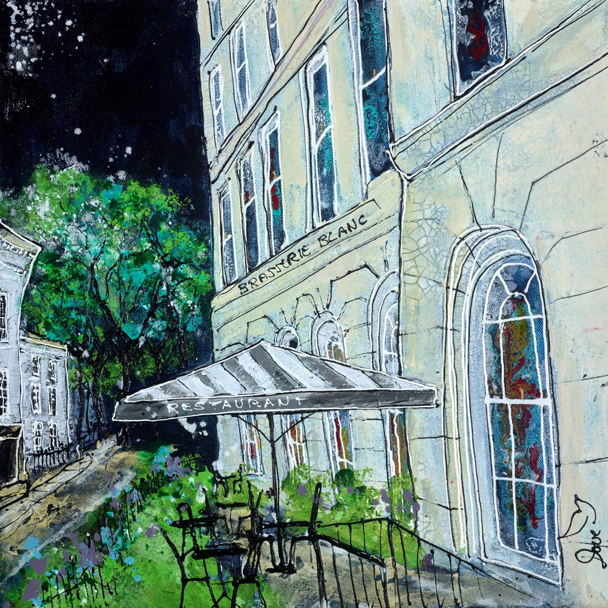 Brasserie Blanc by katharine dove -  sized 16x16 inches. Available from Whitewall Galleries